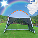 cheap Tents, Canopies & Shelters-8 person  Outdoor Family Tent Rain-Proof Breathability UV Resistant Poled One Room Double Layered 2000-3000 mm Camping Tent  for Climbing Beach Camping / Hiking / Caving Steel Alloy Nylon Net Fabric