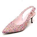ieftine Tocuri de Damă-Pentru femei Pantofi Sintetice Vară Confortabili Sandale Toc Stilat Roz / Migdală