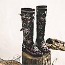 povoljno Ženske sandale-Žene Cipele Brušena koža Zima Udobne cipele Čizme Blok pete Crn