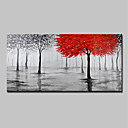 cheap Oil Paintings-Oil Painting Hand Painted - Landscape / Floral / Botanical Modern Canvas