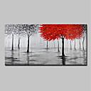 tanie Obrazy olejne-Hang-Malowane obraz olejny Ręcznie malowane - Krajobraz / Kwiatowy / Roślinny Nowoczesny Zwinięte płótna / Zwijane płótno