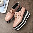 povoljno Ženske sandale-Žene Mekana koža Ljeto Udobne cipele Oksfordice Creepersice Okrugli Toe Pink / Burgundac