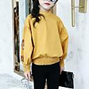זול חולצות לבנות-חולצה שרוול ארוך רקום פרחוני ליציאה פעיל / סגנון רחוב בנות ילדים
