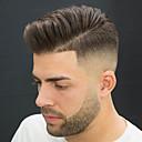 رخيصةأون باروكات كابلس صناعية-للرجال شعر مستعار طبيعي شعر مستعار مجعد 100% مربوط باليد ناعم