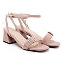 olcso Női csizmák-Női Cipő Fordított bőr Nyár Kényelmes Szandálok Vaskosabb sarok Rózsaszín / Bor / Mandula