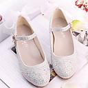 abordables Accesorios para el Cabello-Chica Zapatos Cuero Sintético Primavera & Otoño Zapatos para niña florista Tacones Pedrería / Corbata de Lazo para Niños Plateado