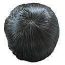 tanie Tupeciki-Męskie Włosy naturalne Tupeciki Prosto Pełna poronka Miękki