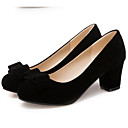 cheap Wedding Shoes-Women's Suede Spring Comfort Heels Chunky Heel Black / Red / Daily