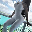 abordables Anti-Stress-Femme Sports Basique Licou Blanc Jaune Ample Mince Combinaison-pantalon, Couleur Pleine Dos Nu M L XL Sans Manches / Sexy