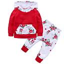 ieftine Set Îmbrăcăminte Bebeluși-Bebelus Fete Activ Floral / Peteci Imprimeu Manșon Lung Bumbac Set Îmbrăcăminte / Copil