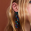 cheap Earrings-Women's Tassel / Long Drop Earrings - Spike Tassel, Trendy Blue / Pink / Light Blue For Daily / Work