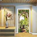 cheap Wall Stickers-Door Stickers - 3D Wall Stickers Landscape / Floral / Botanical Living Room / Bedroom