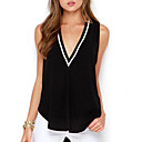 cheap Totes-Women's Cotton Tank Top - Color Block Deep V