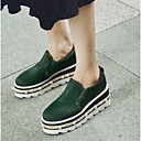 cheap Women's Athletic Shoes-Women's Shoes Horse Hair Summer Comfort Loafers & Slip-Ons Creepers Round Toe Black / Green