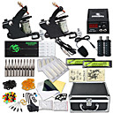 preiswerte professionelle Tattoo-Kits-DRAGONHAWK Tätowiermaschine Professionelles Tattoo Kit - 2 pcs Tattoo-Maschinen, Professionell / Sicherheit / Einfach zu installieren Aleación LCD-Stromversorgung Aufbewahrungshülle inklusive 2