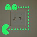 abordables Adhesivos de Pared-Calcomanías Para Los Interruptores de Luz - Calcomanías de Aviones para Pared / Calcomanías Fosforescentes de Pared Halloween / Día Festivo Interior / Habitación de Niños