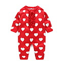 tanie Topy dla niemowląt-Dziecko Dla dziewczynek Podstawowy Geometryczny Długi rękaw Bawełna Jednoczęściowe