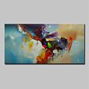 billige Inkluder indre ramme-Hang malte oljemaleri Håndmalte - Abstrakt Moderne Uten Indre Ramme / Valset lerret