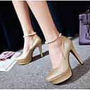 povoljno Ženske cipele s petom-Žene Cipele PU Ljeto Udobne cipele Cipele na petu Stiletto potpetica Zatvorena Toe Crn / Pink / Crvena