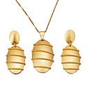 ieftine Cercei la Modă-Pentru femei Set bijuterii - Boem, Modă Include Cercei Rotunzi Coliere cu Pandativ Auriu Pentru Petrecere Cadou / Σκουλαρίκια