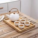 ieftine Lămpi de vid și termose-Drinkware Porţelan / Lemn / Bambus Cești / Ceaiuri & Răcoritoare / Apă potabilă și ceainic -Izolate termic 5 pcs