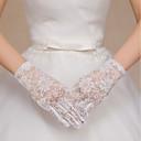 billige Bryllupsinvitasjoner-Spandex Tekstil Håndleddslengde Hanske Vintage Stil / Hansker Med Solid