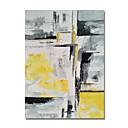 ieftine Picturi în Ulei-stildecor® pictat manual, abstract, de culoare galbenă și gri pe panza de ulei de pictură pentru perete arta gata să stea arta