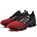 זול מוקסינים לנשים-בגדי ריקוד נשים נעליים רשת / בד גמיש אביב קיץ נוחות נעלי אתלטיקה ריצה שטוח שחור / ירוק / שחור אדום