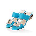 ieftine Sandale de Damă-Pentru femei PU Vară Confortabili Sandale Toc Drept Portocaliu / Bej / Albastru