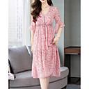 cheap Party Dresses-Women's Going out Slim Sheath Dress Deep V Pink L XL XXL / Sexy