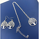 cheap Jewelry Sets-Women's Lasso Jewelry Set - Tree of Life Simple, Fashion Include Necklace Silver For Daily / Festival