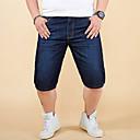 billige Herre Ringe-Herre Simple / Basale Jeans / Shorts Bukser Ensfarvet