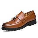 זול נעלי אוקספורד לגברים-בגדי ריקוד גברים עור פטנט קיץ נוחות נעלי אוקספורד שחור / חום