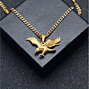 cheap Men's Necklaces-Men's Stylish Cuban Link Pendant Necklace Chain Necklace Steel Stainless Eagle Stylish European Hip-Hop Cool Gold 60 cm Necklace Jewelry 1pc For Gift Street