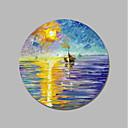 tanie Obrazy: abstrakcja-Hang-Malowane obraz olejny Ręcznie malowane - Krajobraz Nowoczesne / Nowoczesny Płótno / Rozciągnięte płótno