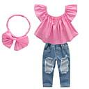 ieftine Set Îmbrăcăminte Bebeluși-Bebelus Fete Mată Manșon scurt Set Îmbrăcăminte