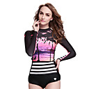 cheap Wetsuits, Diving Suits & Rash Guard Shirts-SBART Women's Diving Rash Guard Breathable, Sunscreen, Toeless Spandex Long Sleeve Swimwear Beach Wear Sun Shirt Diving / Stretchy