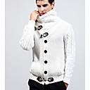 tanie Portfele-Męskie Podstawowy Golf Sweter rozpinany Solidne kolory Długi rękaw