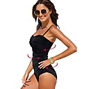 olcso Úszóruhák, búvároveráll és neoprén ruhák-Női Fürdőruha Rugalmas Nejlon / Spandex Ujjatlan Fürdőruha Strandruházat Testhezálló Egyszínű Úszás