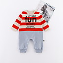 ieftine Set Îmbrăcăminte Bebeluși-Bebelus Fete Dungi Manșon Lung Salopetă