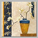 baratos Pinturas a Óleo-Pintura a Óleo Pintados à mão - Vida Imóvel Floral / Botânico Clássico Tradicional Incluir moldura interna / Lona esticada