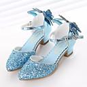 ieftine Pantofi Fetițe-Fete Pantofi Sintetice Primăvara & toamnă Pantofi Fata cu Flori / Tocuri mici pentru Teens Tocuri pentru Argintiu / Albastru / Roz