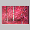 abordables Cuadros de Paisajes-Pintura al óleo pintada a colgar Pintada a mano - Paisaje / Floral / Botánico Modern Lona