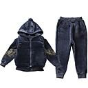 tanie Zestawy ubrań dla dziewczynek-Dzieci Dla dziewczynek Moda miejska Geometric Shape Długi rękaw Bawełna Komplet odzieży