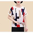 cheap Women's Sandals-women's t-shirt - color block round neck