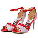ieftine Flip-Flops de Damă-Pentru femei Pantofi PU Vară Confortabili Sandale Toc Stilat Auriu / Argintiu / Mov