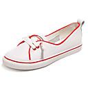 זול מוקסינים לנשים-בגדי ריקוד נשים כותנה קיץ נוחות נעלי ספורט שטוח בוהן עגולה לבן / אדום