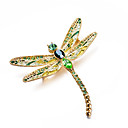 cheap Brooches-Women's AAA Cubic Zirconia Classic Brooches - Dragonfly Artistic, Luxury, Classic Brooch Green For Gift / Evening Party
