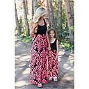 ieftine Set Îmbrăcăminte De Familie-Copii / Copil Mama și cu mine Floral / Bloc Culoare Fără manșon Salopetă