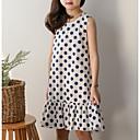 tanie Sukienki dla dziewczynek-Dzieci Dla dziewczynek Aktywny / Słodkie Solidne kolory Krótki rękaw Sukienka